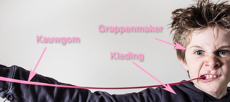 Kauwgom uit kleding