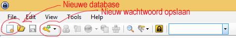 Nieuw password database aanmaken in Keepass